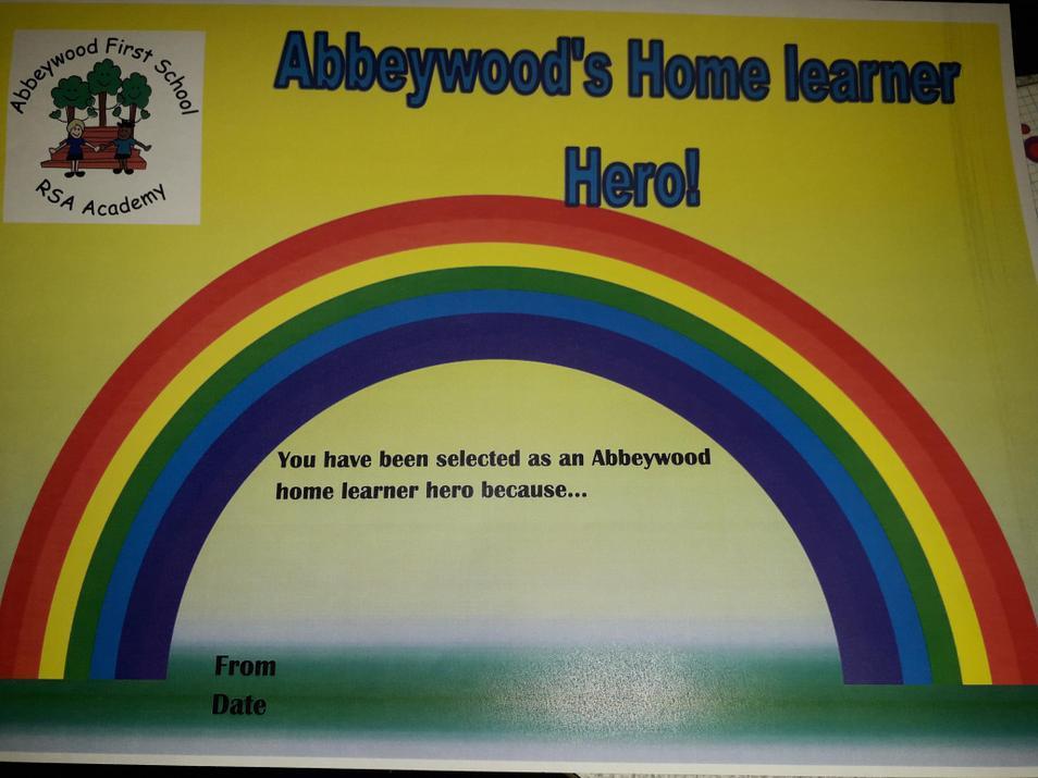 Michael has earned the 1st home learner hero award