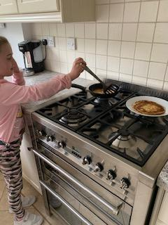 Pancakes in the Turrell household today!