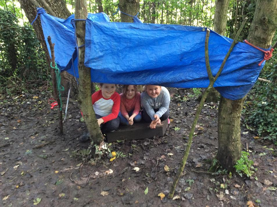 A waterproof den that could fit 3 children in!