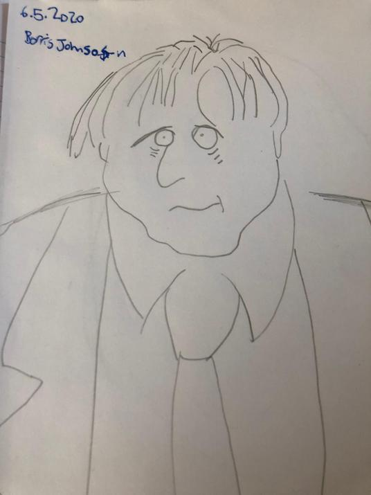 portraits of Boris Johnson. I think he'd love this