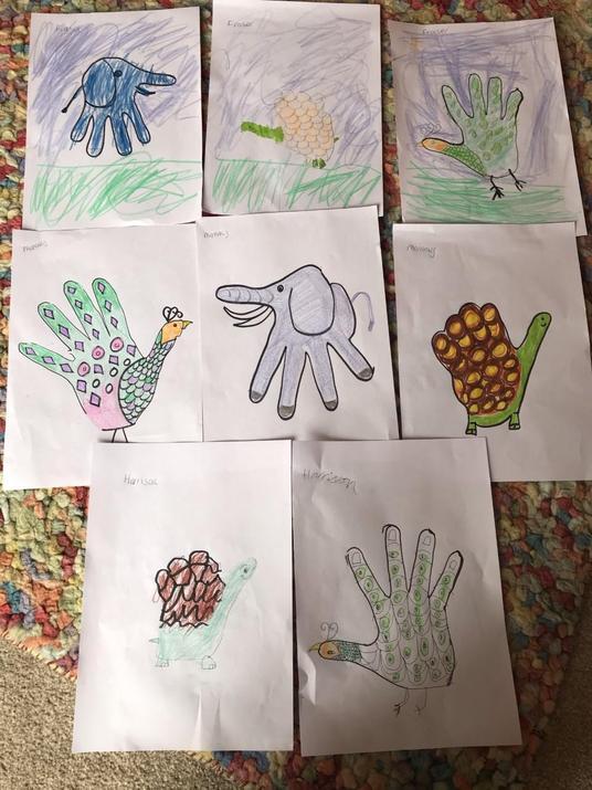 Harrison's hand art