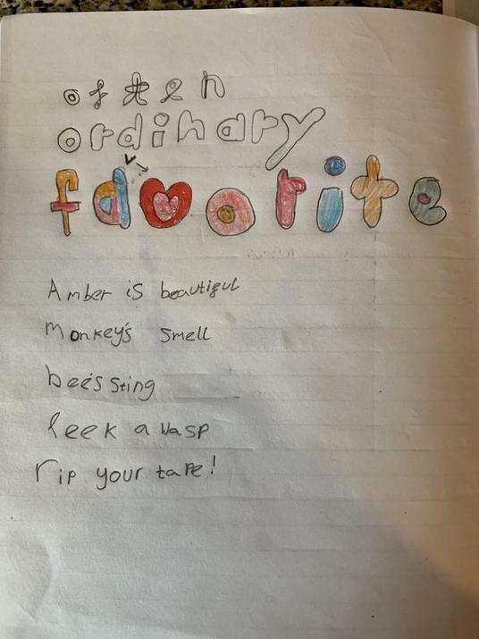 Amber's acrostic poem