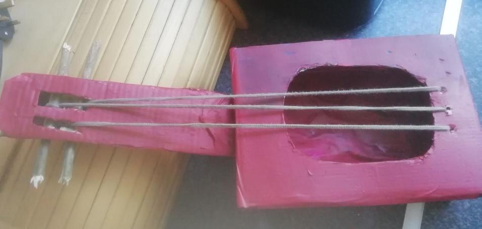 Oli made a guitar