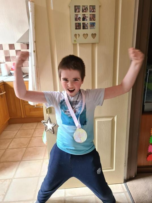 Michael and his gold medal!