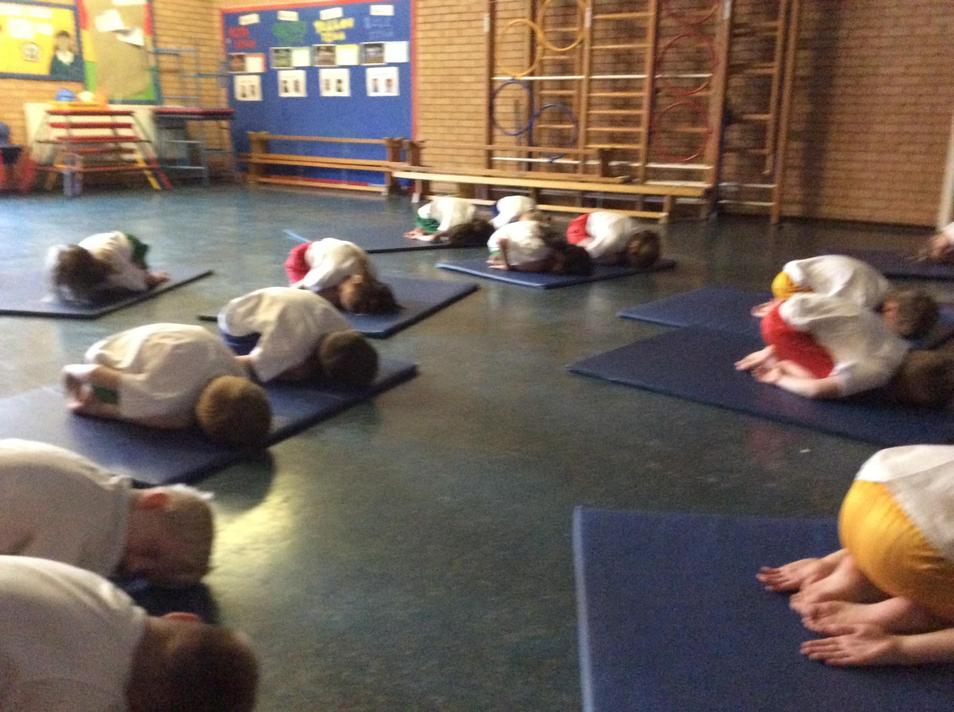 On Friday we did yoga.