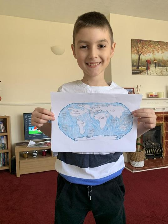 Tudor and his detailed map.