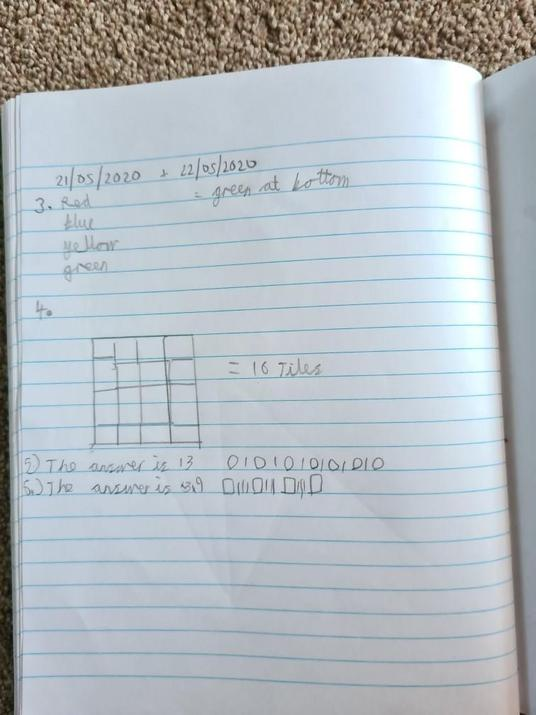 Michael's maths- coin and bread+cheese solution