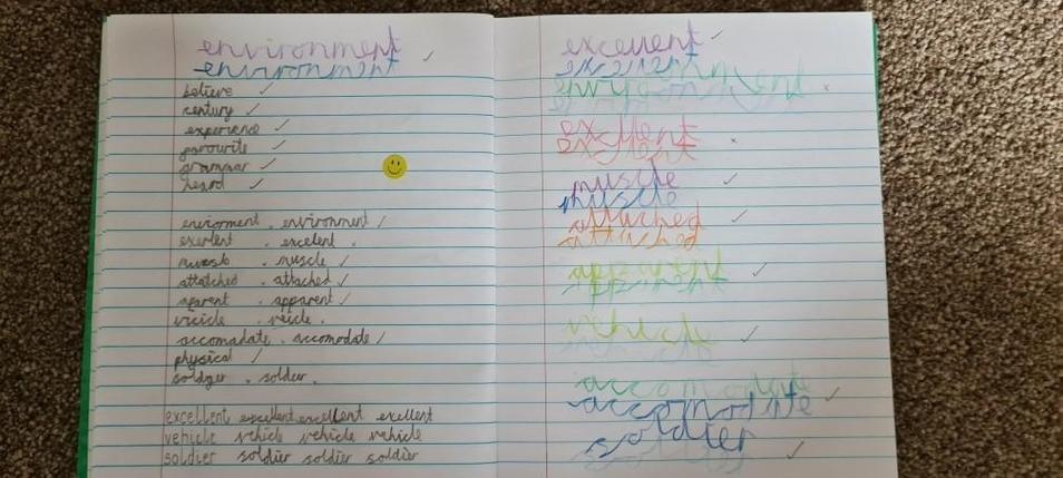 Michael's spellings.