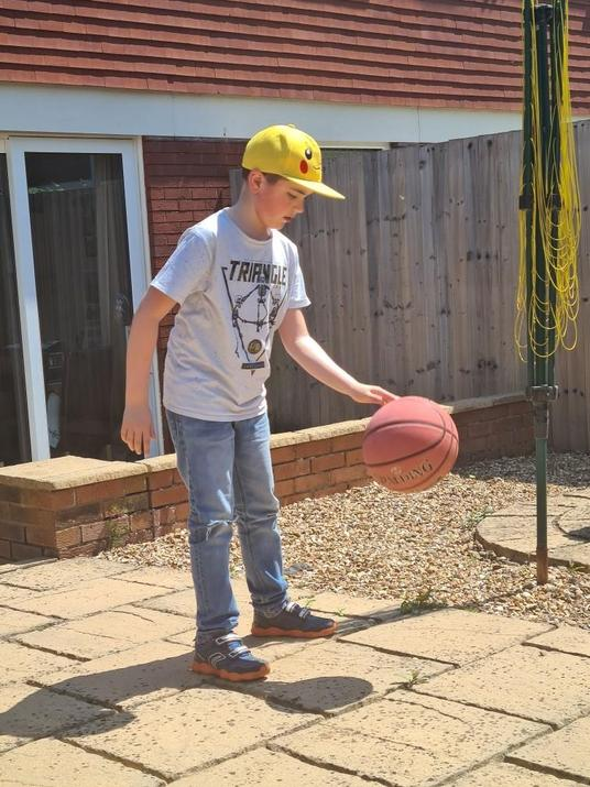 A future basketballer in the making...