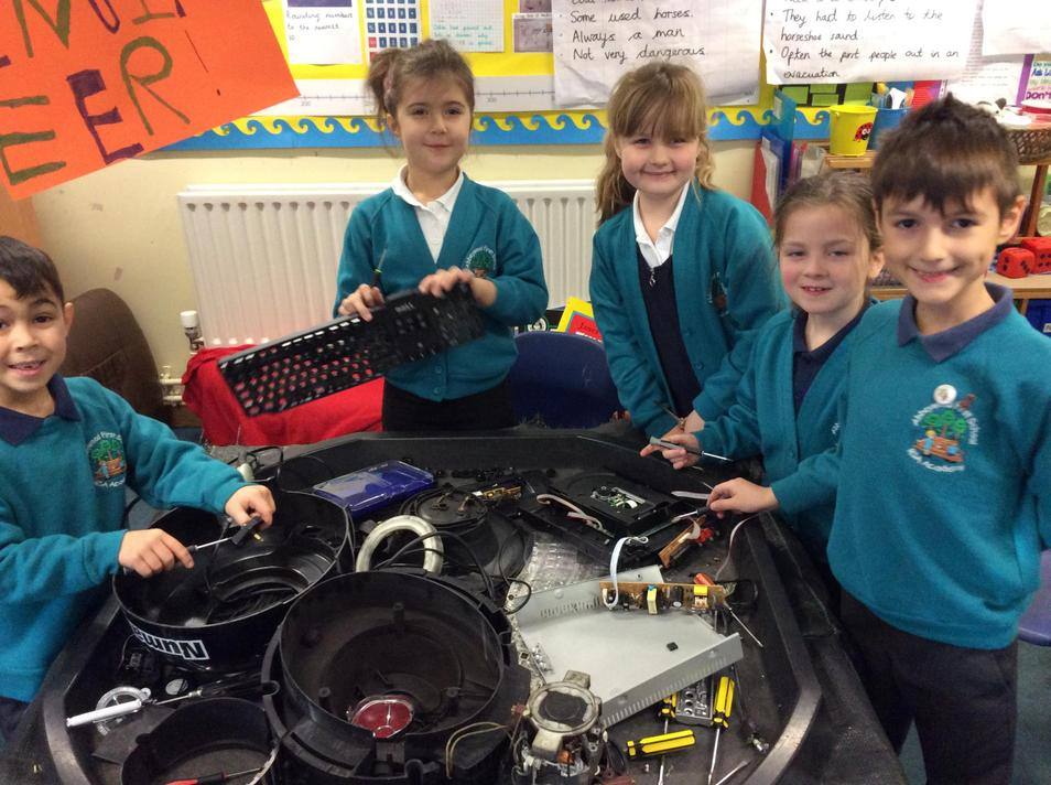 Taking apart objects to see how they are made