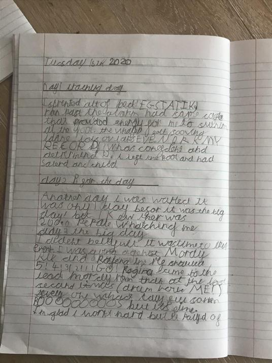 A wonderful diary entry for an Olympian, Stefan.