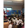 We enjoyed Collective Worship with Mrs Theobald.