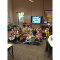 We raised £58 pounds for Children in Need