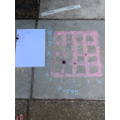 Poppy's outdoor learning co-ordinate grid
