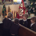 Visiting the Christmas Tree Festival at the church
