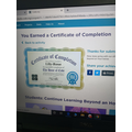 Lily's certificate for coding