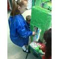 Giving Boxasaurus a coat of paint.