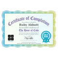 Ruby's hour of code certificate :)