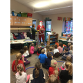 Father Christmas came to visit us in our classroom