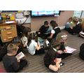 Sharing books with our Year 4 Buddies.