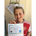 Harry's Hour of Code certificate
