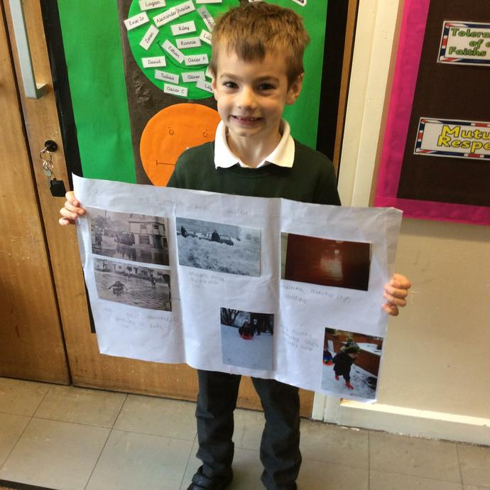 Oliver created some amazing home learning.
