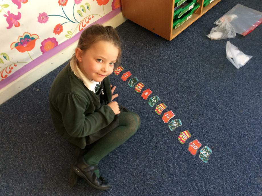 We have been counting forwards and backwards in 2s