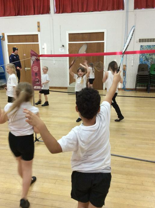 The sports coaches taught us the Badminton skills.