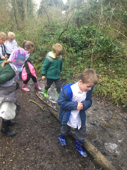 We loved stomping through the squelchy mud!