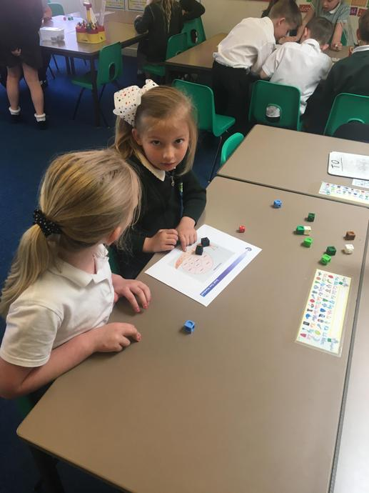 We played a place value game in Maths today.