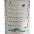 Gorgeous acrostic spring poem! Well done Tilly