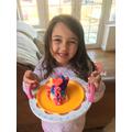 A colourful birthday cake
