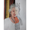 Detailed portrait of the Queen