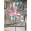 A colourful picture using chalk paint