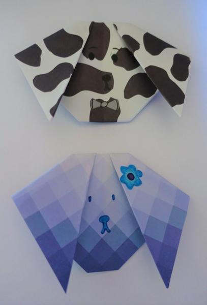 Ele's origami dogs