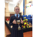 Ellie - Houston cup for Achievement on sports day
