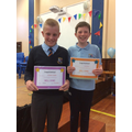 Christopher and Lewis - Full attendance in P7
