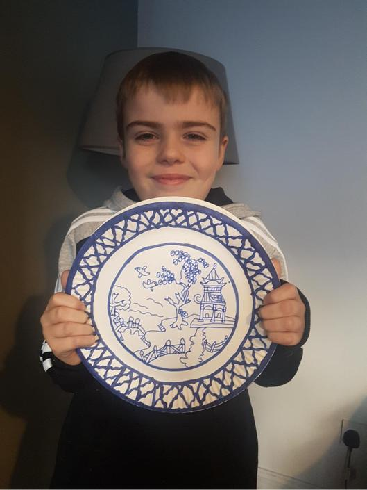 Look at the detail on this beautiful plate.