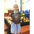 Alex - Star trophy shield for Speech & Drama