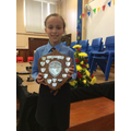 Caitlin - Baird shield for Most Promising musician