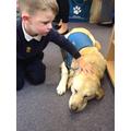 We enjoyed meeting Rhoda the Guide Dog