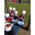 We had a picnic to celebrate the Queen's birthday
