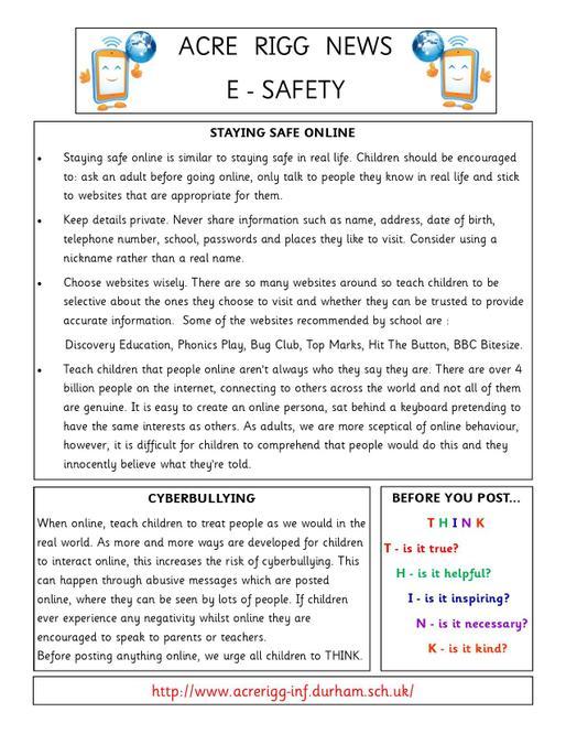 E Safety Parent Newsletter
