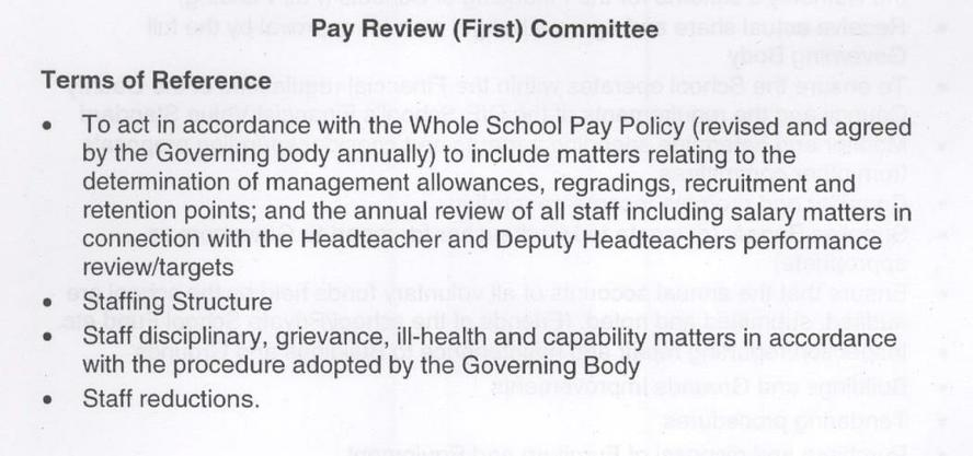 Pay Review (first) Committee