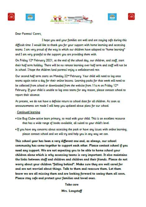 School parents letter