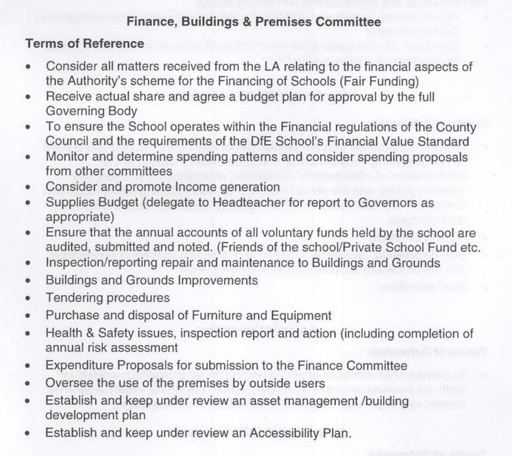 Finance, Buildings and Premises Committee