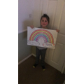 Layla has made this lovely picture for her window!
