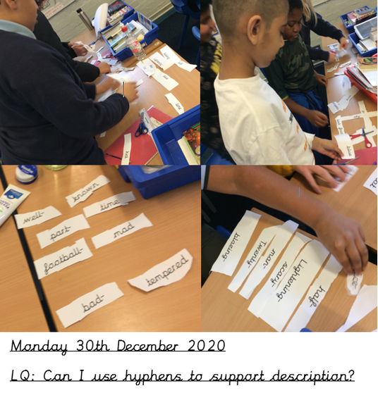 Can you have a go at creating more examples of hyphenated words?