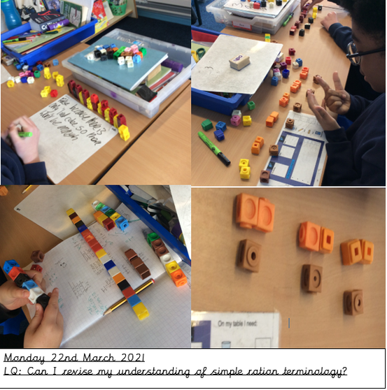Maths- This week's maths lessons have been focusing on ratio.