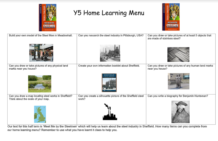 Home learning Autumn 2